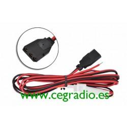 Cable Alimentación Emisora 12V 3 Pins Vista Horizontal