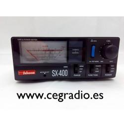 Telecom SX-400 Medidor VHF UHF 144Mhz 430Mhz Vista Frontal