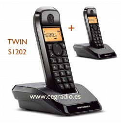 2 Telefonos Motorola inhalambricos Twin S1201