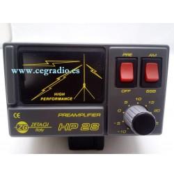 ZETAGI HP28 Preamplificador CB 27Mhz Vista Frontal