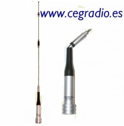 D Original SG-7500 Antena Bibanda Movil VHF UHF Vista Vertical