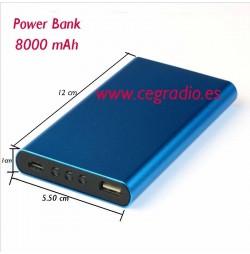 Power Bank 8000 mAh metal
